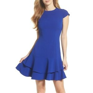 Eliza J | Blue Layered Ruffle Shift Dress